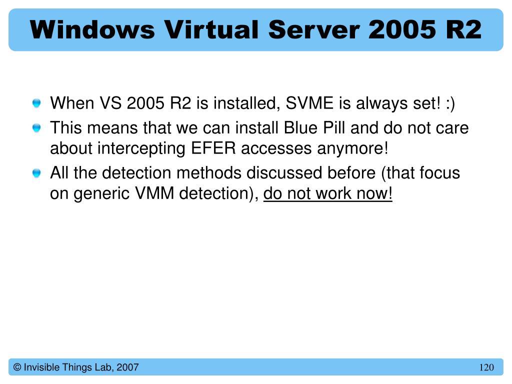 Windows Virtual Server 2005 R2