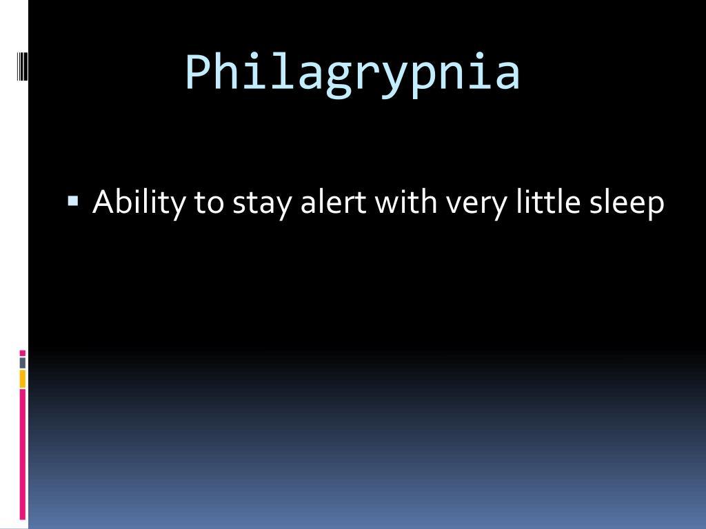 Philagrypnia
