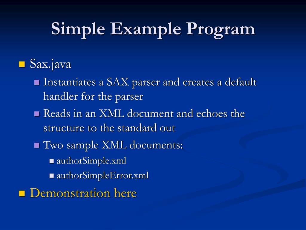 Simple Example Program