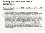 walking the talk ethics versus competence