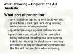 whistleblowing corporations act australia30