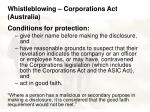 whistleblowing corporations act australia32