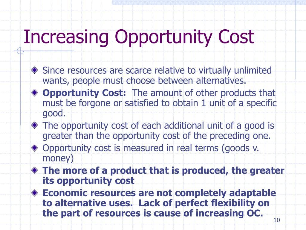 economic term opportunity cost