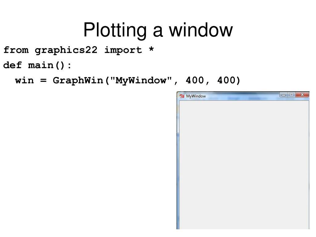 Plotting a window