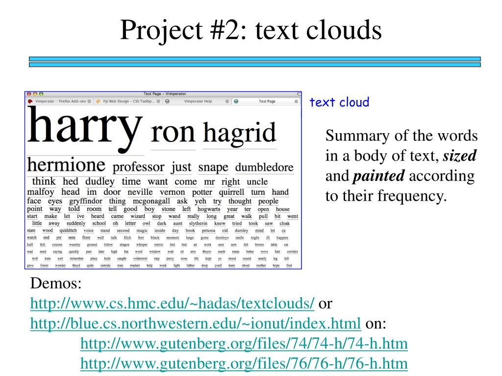 Project #2: text clouds