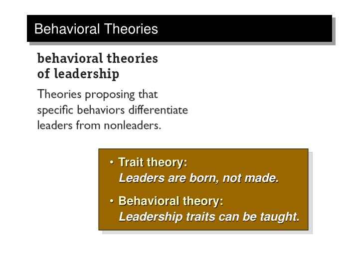 leaders are born not made theory