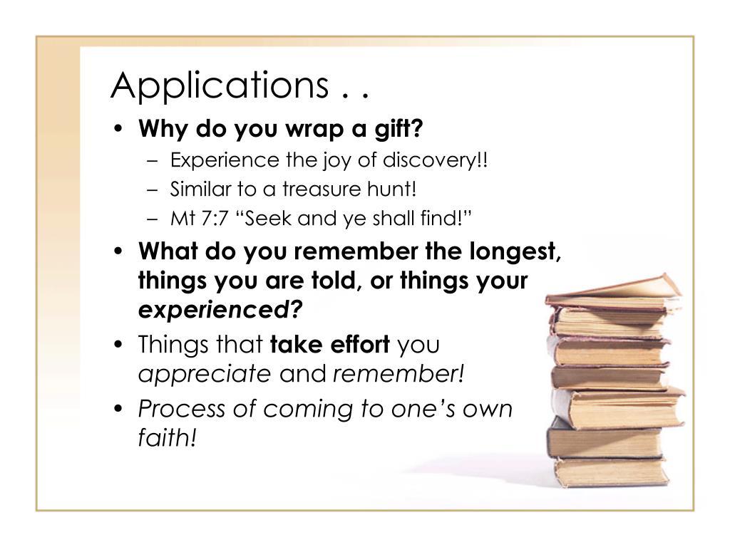 Applications . .