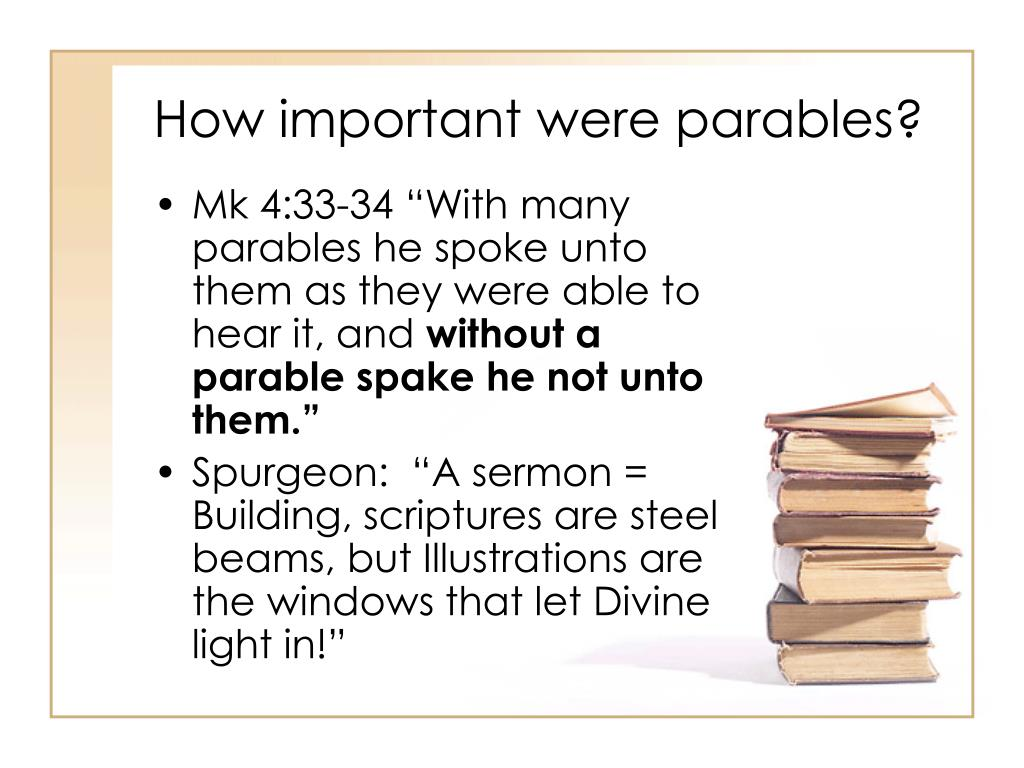How important were parables?