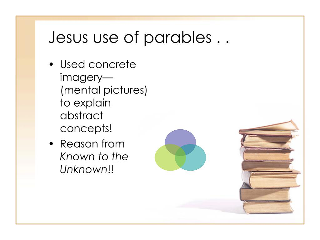 Jesus use of parables . .
