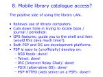 8 mobile library catalogue access