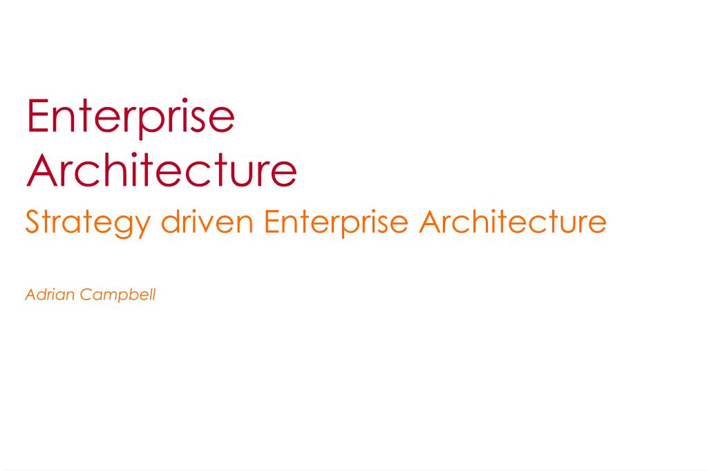 enterprise architecture l.