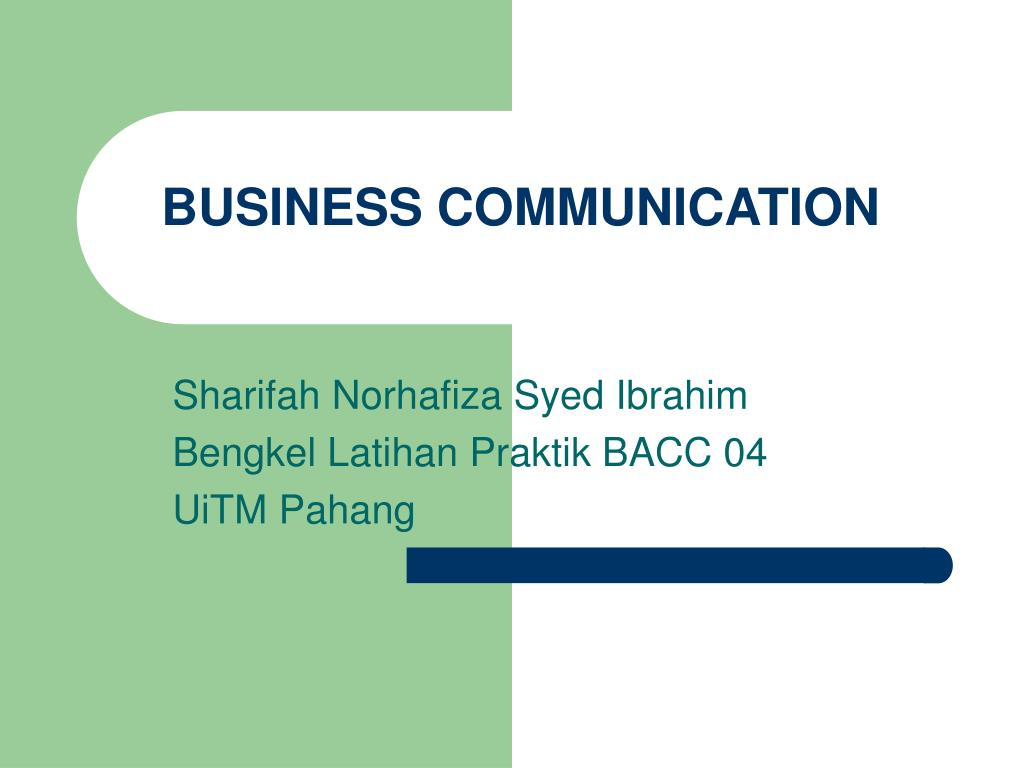 business communication l.