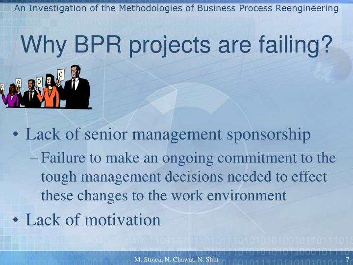failure stories of business process reengineering Taco bell- re engineering it has benefited through the reengineering process business process re engineering in dell with michael porters value chain.