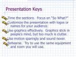 presentation keys
