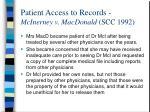 patient access to records mcinerney v macdonald scc 1992