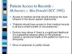 patient access to records mcinerney v macdonald scc 199230