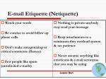 e mail etiquette netiquette
