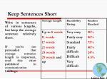 keep sentences short
