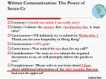 written communication the power of seven cs