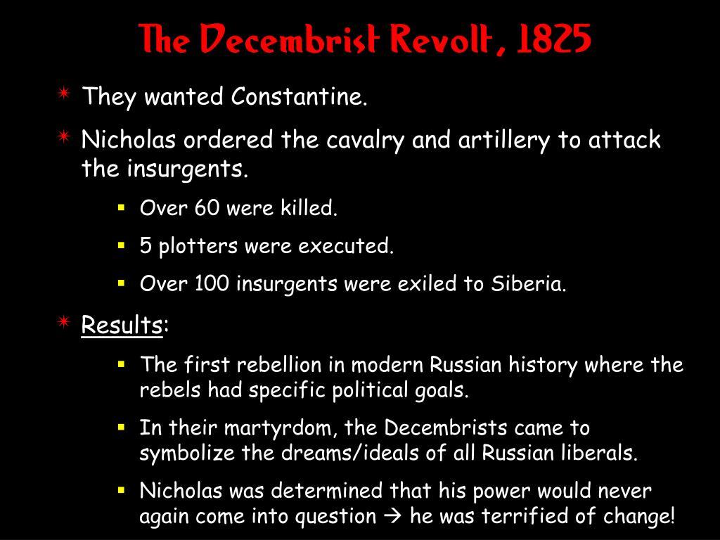 The Decembrist Revolt, 1825