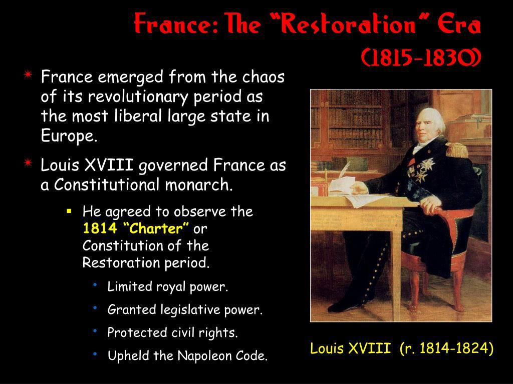 "France: The ""Restoration"" Era"