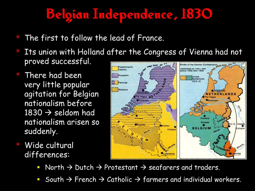 Belgian Independence, 1830