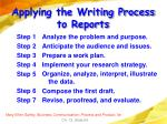 applying the writing process to reports