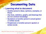 documenting data78