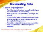 documenting data82