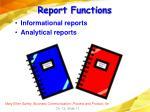 report functions
