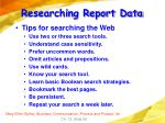 researching report data59