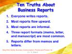 ten truths about business reports