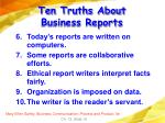 ten truths about business reports10