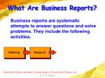 what are business reports5