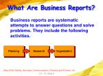 what are business reports6