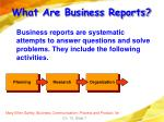 what are business reports7