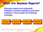 what are business reports8