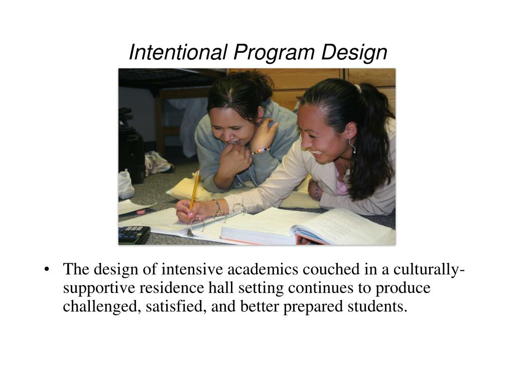 Intentional Program Design