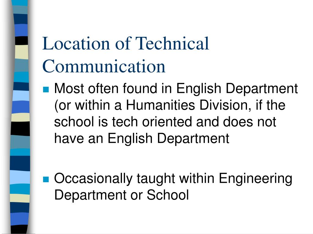 Location of Technical Communication