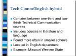 tech comm english hybrid