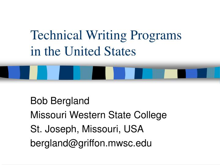 Technical writing programs in the united states