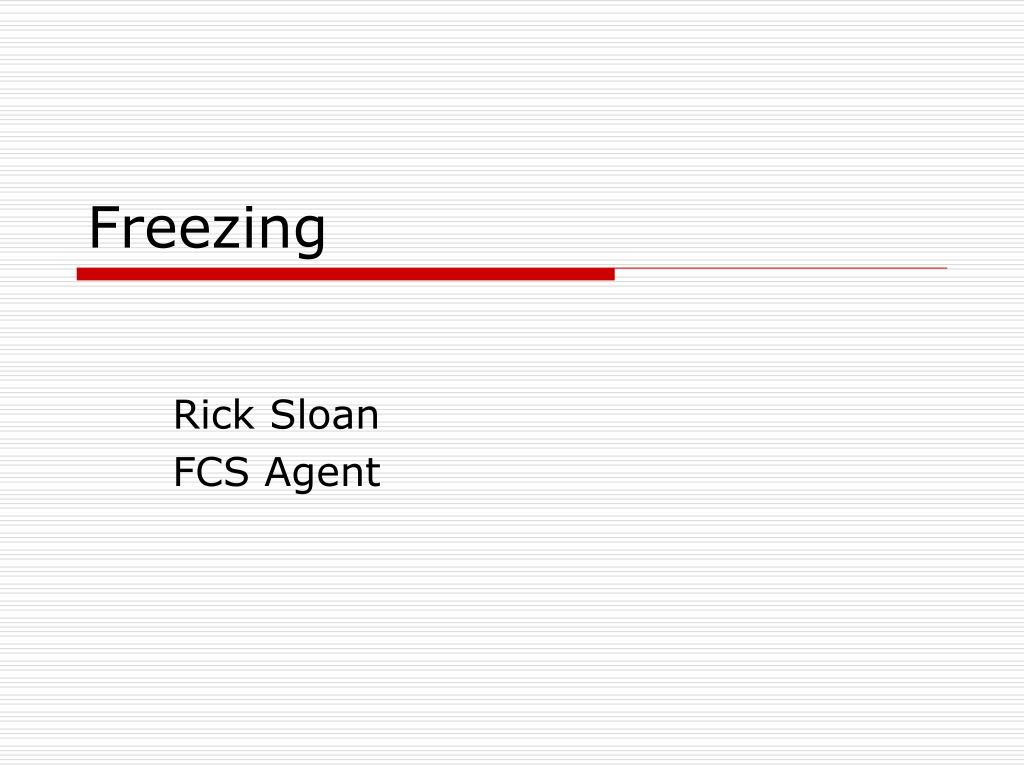 freezing l.