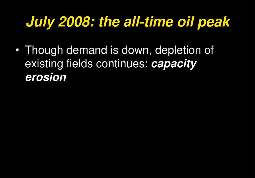 July 2008: the all-time oil peak