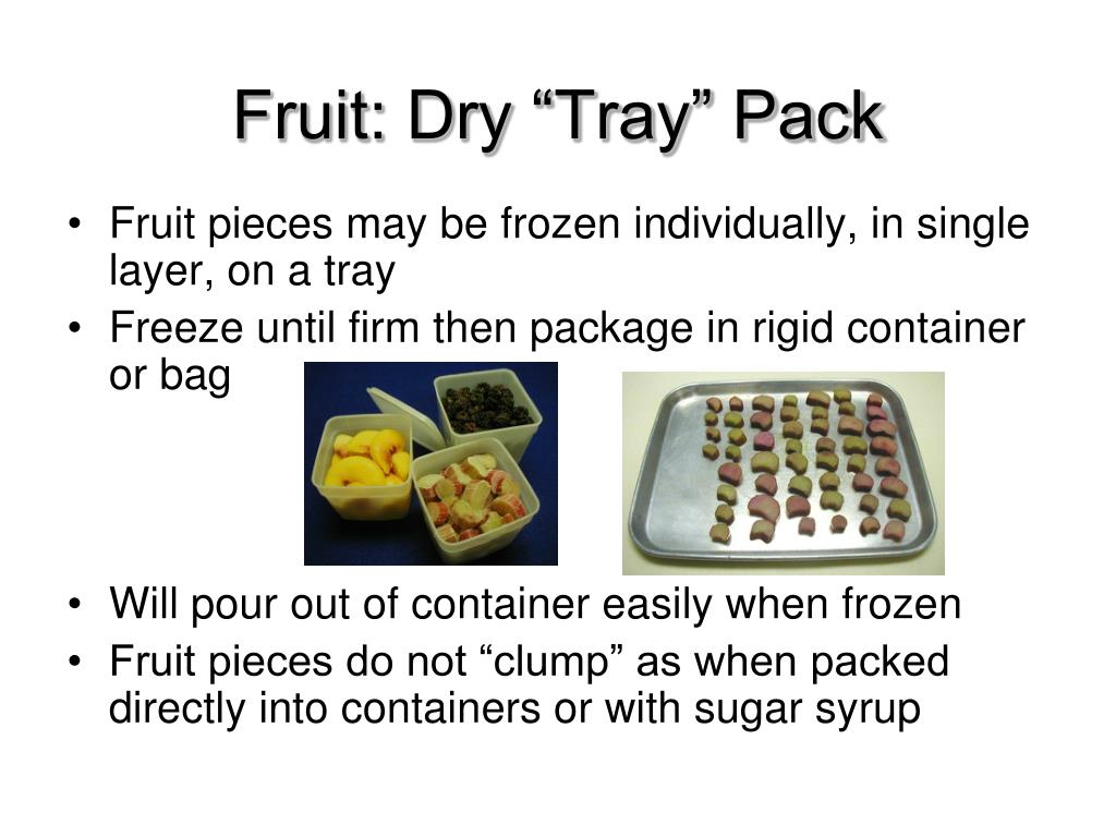 """Fruit: Dry """"Tray"""" Pack"""