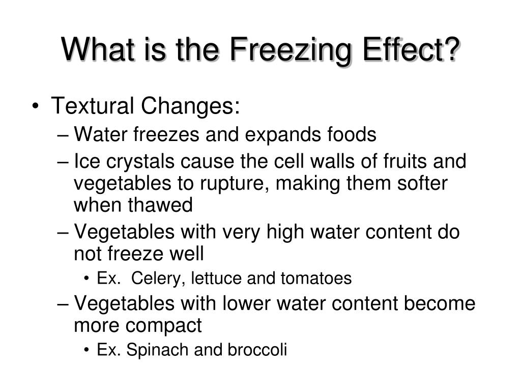 What is the Freezing Effect?
