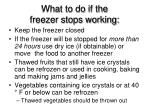 what to do if the freezer stops working