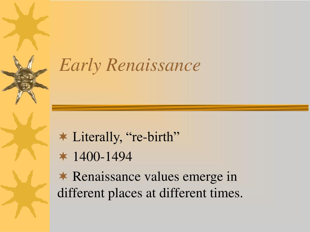 early renaissance l.