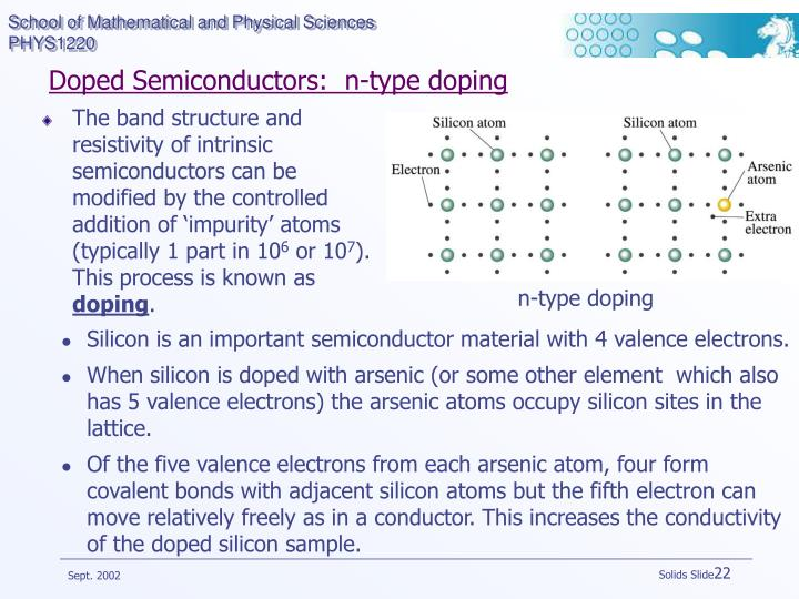Doped Semiconductors:  n-type doping