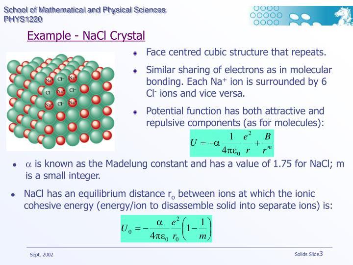 Example nacl crystal