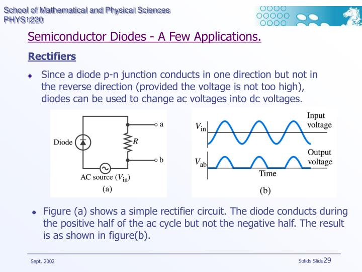 Semiconductor Diodes - A Few Applications.